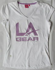 TODAY ONLY-LAST ONE !! LA GEAR WOMENS UK 10 V-NECK T SHORT SLEEVE CASUAL F7/1711