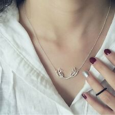 Fashion jewelry elk deer antlers pendant necklace gift for women christmas gift