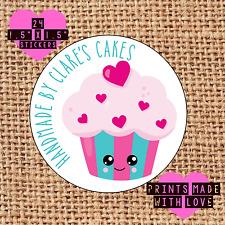 Personalised 24 handmade by cupcake kawaii cake maker love heart eyes