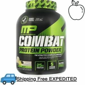 MusclePharm, Combat Protein Powder, Vanilla, 4 lbs (1814 g) The Athlete's Comple