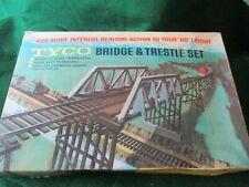 TYCO BRIDGE & TRESTLE SET. H.O.SCALE. PRE-OWNED COMPLETE.
