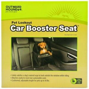 LM Outward Hound Car Booster Seat - Black Small (For Dogs under 10 lbs)