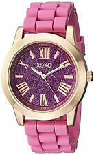 XOXO Womens Rose Gold-Tone and Pink Watch