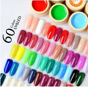 UV LED Color Nail Gel Soak Off Long Lasting Paint Nail Art Gel Polish 60 color