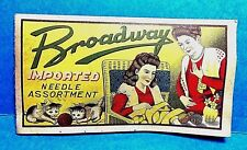 "Vintage ""Broadway"" Needle Case Book"