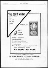1898 Antique Print - ADVERTISING Borax Starch Glaze Materials Ironing (03)