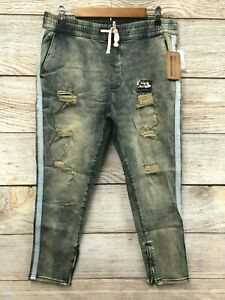 Modern Culture Jeans Mens Medium Skidrow Pull On Skinny Stretch Zip Bottom New