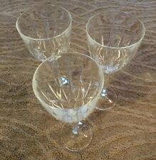 3 Waterford Marquis Sparkle Crystal Goblets