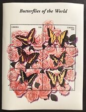LIBERIA BUTTERFLY STAMPS SHEET 6V 2004 MNH BUTTERFLIES OF THE WORLD WILDLIFE