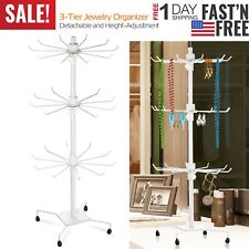 Rotating Jewelry Stand Display Organizer Necklace Ring Earring Holder Show Rack
