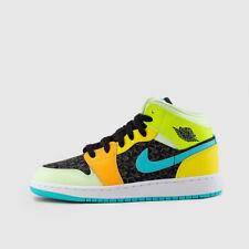 Nike Air Jordan Retro 1 Mid Four Leaf Clover Yellow Volt Aurora Green BQ6931-037