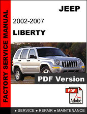 JEEP LIBERTY 2002 2003 2004 2005 2006 2007 SERVICE REPAIR WORKSHOP MANUAL