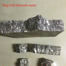 10kg/22lb Bismuth Metal Ingot  99.99% Pure Crystals Geodes For Bismuth Crystals