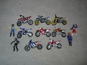 TOY MOTOCROSS MOTORCYCLES LOT NITRO, MXS, HONDA,YAMAHA