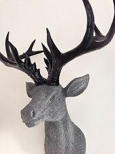 LARGE Unique decoration Stag Head Taxidermy Deer 'Black Granite'