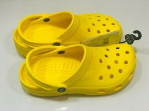 Crocs Classic Unisex Clog Lemon Slip On Authentic Shoes Mens 5 Women 7 Brand New