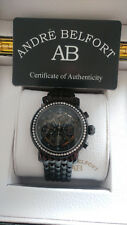 Mens Andre Belfort Intemporelle Chronograph Black Ion Plated Watch Used Exc Cond