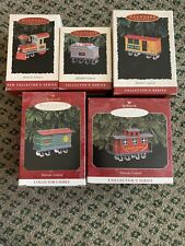 Hallmark Ornaments Collectors Series Yuletide Central Complete Set/5 New Train