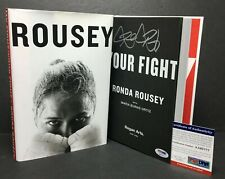 Ronda Rousey Signed 'Your Fight' Hardcover Book *UFC *Wrestling PSA AA95777