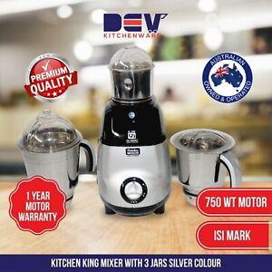 Indian mixer grinder 750 WT with 3 Jars (1 Year Motor warranty) AU Stock (SLIVER