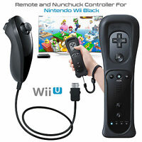 Built in Motion Plus Wiimote Remote Controller Nunchuck For Nintendo Wii & Wii U