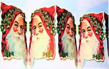 Rare! CHRISTMAS GARLAND Santa Faces 8Ft Long (30 Santas) MINT SEALED Shackman