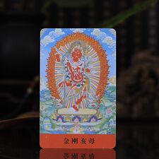 "3.4"" Tibet Tibetan Buddhism Exquisite painting Amulet thangka Vajravarahi Buddha"