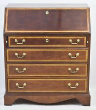 "Thomasville ""The Mahogany Collection"" Chippendale Style Secretary Desk w. Inlays"
