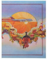 Vintage Transworld TWA 1st Class Menu Cover Lithograph Great Graphics D-40/87