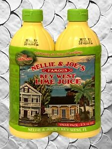 Real Lime Juice From Concentrate Key West 100% Nellie & Joes 16 Ounces 2 Pack