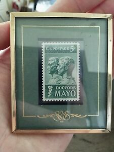 Doctors Mayo stamp drs 1964 us postage stories texas S&S framed 5 cents army usa