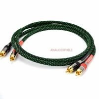 HiFi RCA Audio Cable Male To Male Interconnect Cable For Preamp Amplifier DAC