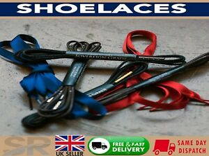 NEW Flat & ROUND Shoe Laces Boot Laces Sneakers Trainers LACES 5 lengths UK