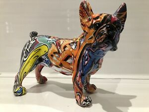 Graffiti Art Standing French Bulldog Ornament Dog Figurine Gift Present
