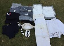 Lot Vintage Wwii Us Navy Crackerjack Trousers, Jumpers Sailor Hat Wool Uniform.