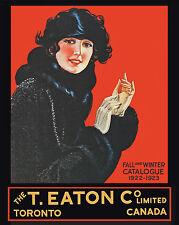 EATON'S CATALOGUE (front cover) - 1922-23 - 8x10 Color Photo