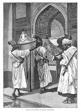 Il Marocco British missione; piatti in SULTAN's CENA-ANTICO stampa 1887