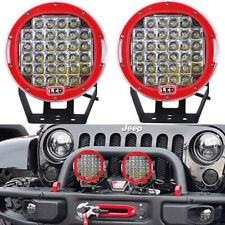 2X 9 inch LED Headlight Round Driving Spot Lamp Fog Bumper FOR Ford ARB Style