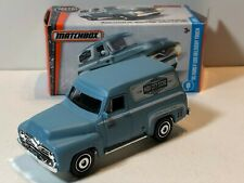 MATCHBOX 1955 FORD F-100 PANEL DELIVERY TRUCK BLUE POWER GRABS w/ PICTURE BOX