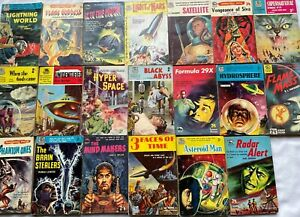 Collection 20 Vintage Badger Science Fiction Books – 1950's