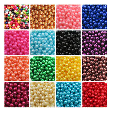 ACRYLIC FAUX PEARL BEADS  6mm - 8mm *19 COLOURS* BEADING WEDDING CRAFTS