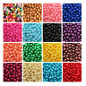 ACRYLIC FAUX PEARL BEADS  3mm - 8mm *21 COLOURS* BEADING WEDDING CRAFTS