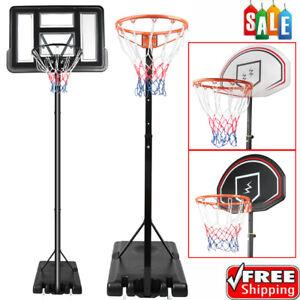 UK Free Standing Basketball Hoop Net Backboard Goal Stand Steel 7ft 8ft 9ft 10ft