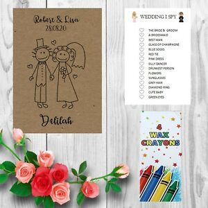 Personalised Childrens Kids Wedding Activity Pack Book Favour Free I Spy AB11
