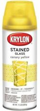 Krylon Stained Glass Spray Paint Translucent  11.5oz Canary Yellow