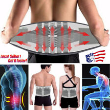 USA Adjustable Lumbar Support Lower Waist Back Belt Brace Pain Relief Breathable