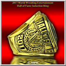 2017 WWE CHAMPIONSHIP BELT HALL OF FAME RING 24K GOLD PLATED SZ 11