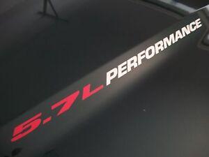 5.7L PERFORMANCE Hood decal FITS: Dodge Ram Hemi V8 1500 2500 2013 2014 2015 +