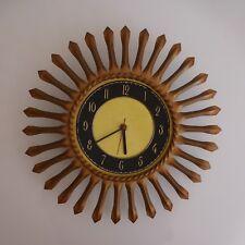 Horloge soleil JUNGHANS électrique bronze cuivre made in Germany art déco XXe