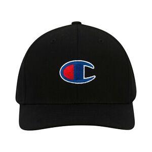 Champion Icon Flex Fit Structured Black Hat / Cap Size S/M